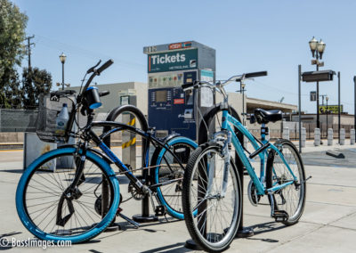 Locked bikes by ticket kiosk Camarillo-1